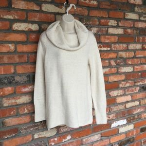 DKNY Jeans Cowl Neck Wool Blend Sweater Top